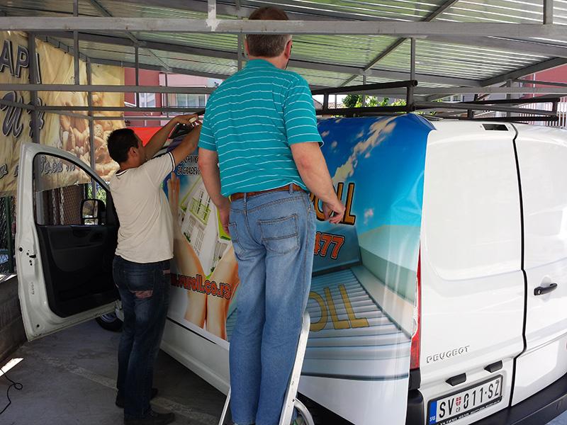 Brendiranje vozila Beograd 1